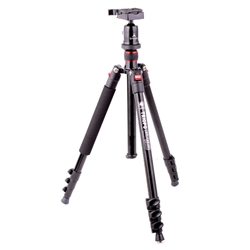 Triopo Complete Alloy 4-Section Tripod with Quick-Release Plate, Ball Head, and Carrying Bag, C-158 KJ1