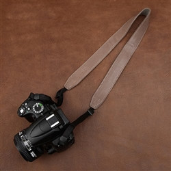 Rosybrown Handmade Wide Genuine Leather Camera Shoulder Neck Strap, 2292