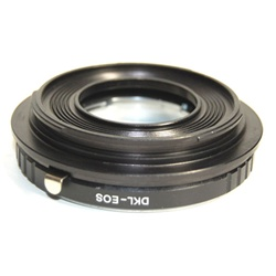 DKL Lens to Canon Adapter EOS 550D 500D 450D 1000D 1Ds, DKL-EOS ADAPTER
