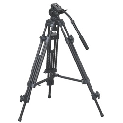Fancier Pro Video Photo Aluminum Tripod Fluid Pan Head Kit with Handle and Case, EI-717 TRIPOD