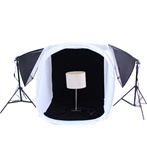 "Large Item Table Top Photography, 600 Watt Softbox Continuous Lighting kit and 40"", 48"", 60"" and 68"" Tent Options, EZ1624KIT_TENT"