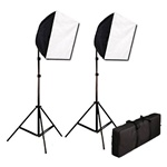 Photography Studio Video Quick Softbox Lighting Light Kit Case, 600 Watt Output, EZ16x24kitcase