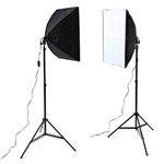 Photography Studio Video Quick Softbox Lighting Light Kit, 600 Watt Output, EZSoftboxkit