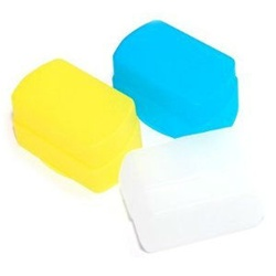JJC Flash Bounce Diffuser in White, Yellow and Blue for 430EX, 430EX II Canon Speedlites, FC-26B-BWY