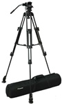 Pro Video Photo Aluminum Tripod Fluid Pan Head Kit with Handle and Case, FC270