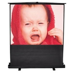 Floor Pull Up Projection Screen, Matte White, FLOOR STAND SCREEN