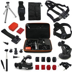 Pro 14-in-1 Accessories Set Tripod Monopod Chest Head Strap Mount For Gopro Hero 1 2 3 3+ 4