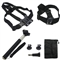 Pro 5-in-1 Accessories Set Monopod Chest Head Strap Mount Bag For Gopro Hero 1 2 3 4 Camera