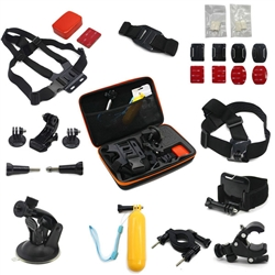 Pro 14-in-1 Head Chest Mount Floating Monopod Pole Accessories Kit For GoPro Camera Case