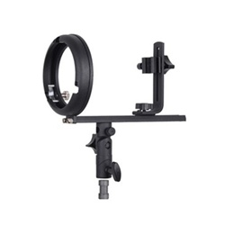 Speedlite Flash Softbox T Bracket with Hot Shoe Mount for Canon and Nikon, GadTmount