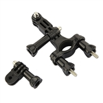 3 Way Pivot Arm Bicycle Motorcycle Handlebar Seatpost Mount For GoPro HERO 2 3