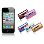 Tape Pattern Silicone Case Cover Protector for iphone4 (Assorted Colors)