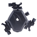 Triple Mount Speedlight Flash Bracket with Umbrella Holder, JM-29 Bracket