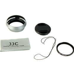 Fujifilm Compatible Lens Adapter and Hood for Fujifilm FinePix X100 With Bonus Lens Cap and Cleaning Cloth, LH-JX100K49