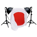 Premium Photo Studio Reflector Tent Table Top Lighting Kit with Tent, Mini-PS03kit-24tent