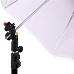 Single Photo Studio Flash Mount N, Stand and Umbrellas Kit, MOUNTN-SOFT UMB-W803