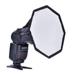 "8"" or 12"" Portable Quick Setup Speedlite Octagona Diffuser Softbox for Nikon Canon Speedlite, OCTAGON DIFFUSER"