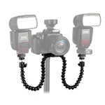 Flexible Octopus Dual-arm Dual-shoe Flash Bracket Holder Mount for MACRO SHOT