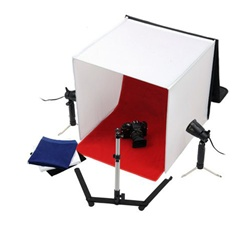 "Photo Studio Table Top Lighting Kit with 16"",  20"" or 24""  Square Tent - PB05"