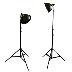 Photo Studio Reflector Continuous Lighting Kits PS-03, 250 or 500 Watt Output, PS03 KIT