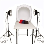 Premium Photo Studio Reflector Tent Continuous Lighting Kit with Tent, PS03KIT-24TENT