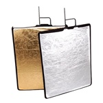 "24""x30"" or 30""x35"" Studio Reflector with Frame- Gold & Silver, Black & White; RE2007L"