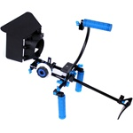 DSLR Shoulder Mount Rig 2 Hand & Follow Focus & Matte Box & Top Handle & C Cage for DSLR Canon Nikon Sony, RL-00IISET-TOPHANDLE
