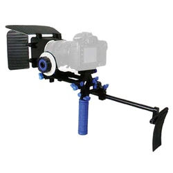DSLR Shoulder Mount Rig 1 Hand & Follow Focus & Matte Box for DSLR Canon Nikon Sony, RL-00ISet