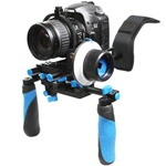Camcorder Steady Shoulder Rig and Follow Focus for DSLR Video Camera Cam Canon Nikon, RL02F+R