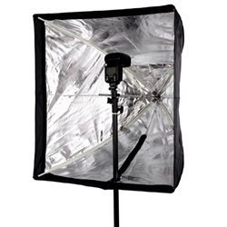"Quick Setup Flash Speedlite Softbox with Hot Shoe Mount for Nikon Canon Flash Light, 24"" x 24"", SS-11 QUICK FLASH SOFTBOX"