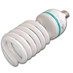 65w, 85w, or 105w, 5500 K Photo Fluorescent Daylight Light Bulb, SPIRAL BULB