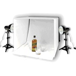 "Photo Studio Table Top Lighting Kit, with 16"", 20"" or 24"" Tent, square tent kit"