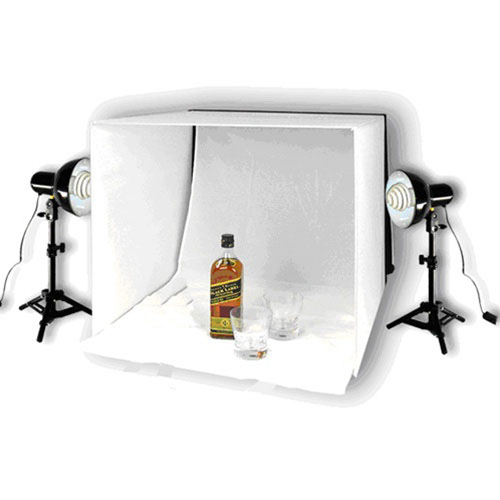 photo studio table top lighting kit with 16 20 or 24 tent