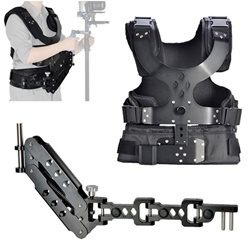 Camera Shoulder Stabilizer Load Vest & Single Handle Arm for DSLR DV Camera, STEADYCAM VEST-ARM