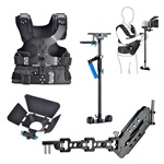 Magic Carbon Fiber Handheld Stabilizer Kit with Camera Shoulder Load Vest, Single Handle Arm & Matte Box for DSLR DV Camera,  STEADYCAM STABILIZER-VEST-ARM