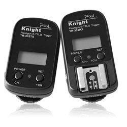 Pixel Knight 2.4GHz Flash Radio Wireless Remote Shutter & Flash Trigger for Canon EOS Camera & Flashes, TR-332
