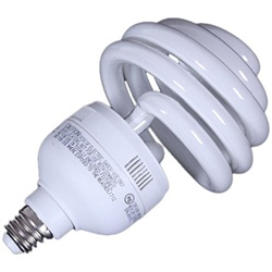 Top Spiral 30 Watt,  55 Watt Photo Fluorescent Daylight Light Bulb, TOP SPIRAL