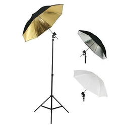 Photography Photo Studio Flash Mount Three Umbrellas Kit, Mount D, UB1Kit(mountD)