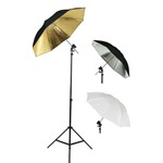 Photography Photo Studio Flash Mount Three Umbrellas Kit, Mount B, UB1KIT