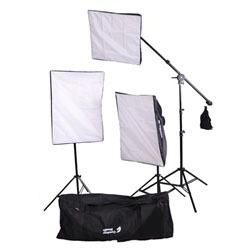 2000 Watt Photo Studio Lighting Softbox Video Light Kit Boom Set & Carry Case, VL-9004S-B6