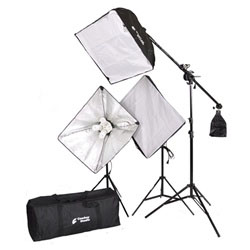 2400 Watt 12 Daylight Bulbs Photo Studio Lighting Softbox Video Light Kit Boom Set & Carry Case, VL-9004S-B8