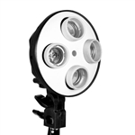 800 Watt Continuous 4 Head Softbox Light Socket, VL-9004S HEAD ONLY
