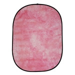 Cowboystudio Collapsible Pop Out Muslin Background Panel W024-Tie Die Pink, W024 PANEL