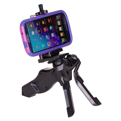 new styles bcc2e a35c9 Camera tripod, with phone holder bracket for iPhone 6 5S 5C 5 4S 4 Samsung  Galaxy S4 S3