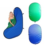 Cowboystudio Reversible Pop Out Background Panel: Blue & Green, B/G PANEL