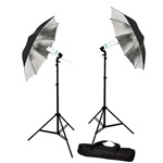 Black 600 W continuous umbrella lighting kit,  BS600WKIT