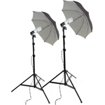 Black 800 W continuous umbrella lighting kit, BS800WKIT