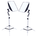 Photo Studio Strobe Flash Lighting Softbox Kit (Three Softbox Size Options)