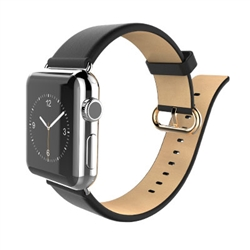 iWatch Premium Genuine Leather Replacement Strap Wrist Band Straps for Apple Watch W Metal Clasp, Classic Buckle & Modern Buckle