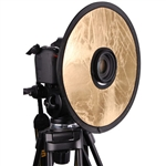 "12"" 2in1 Circular Lens-Mount Light Reflector Silver / Gold"